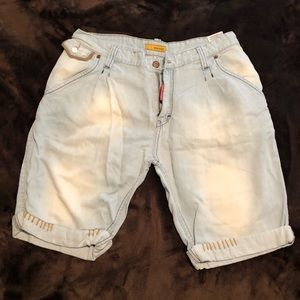 DSQUARED faded jean shorts Size 32 Men's
